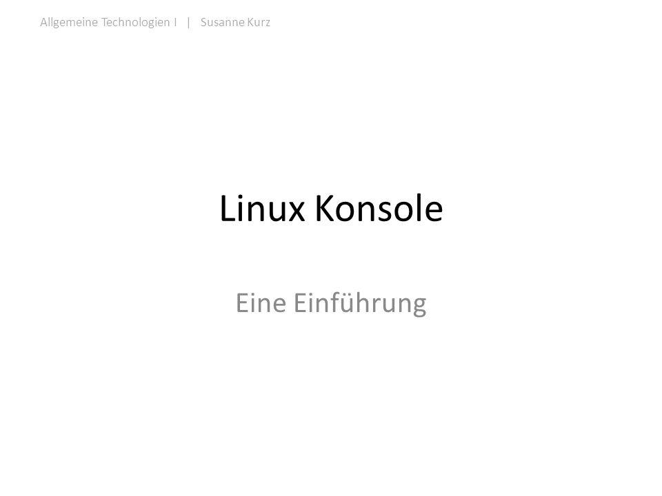 Linux Konsole Eine Einführung