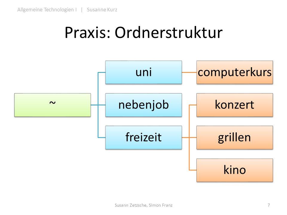 Praxis: Ordnerstruktur