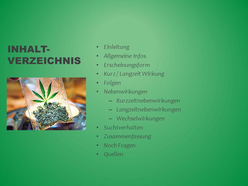 Inhalt- Verzeichnis Einleitung Allgemeine Infos Erscheinungsform