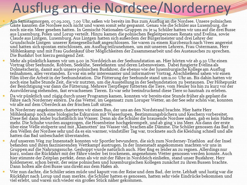 Ausflug an die Nordsee/Norderney