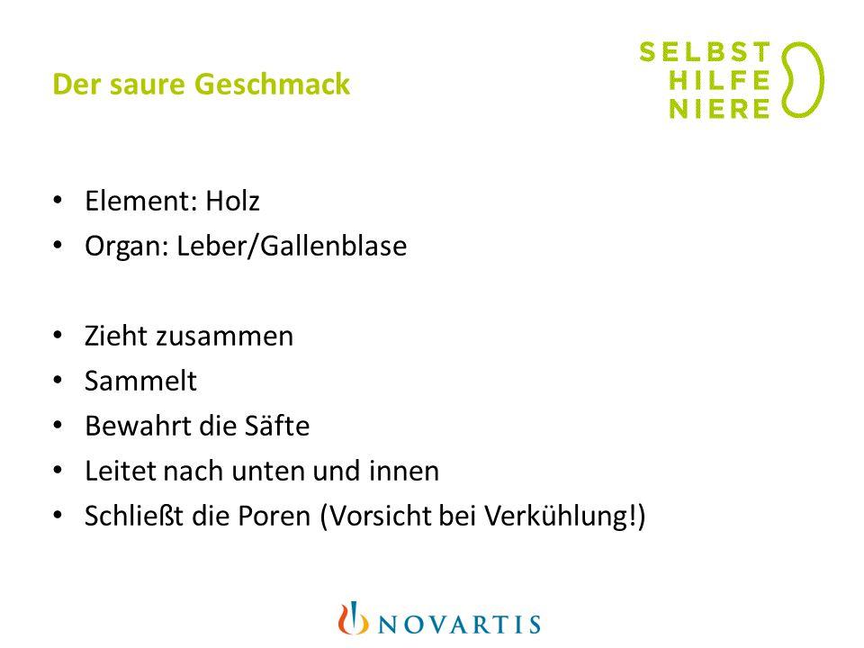 Der saure Geschmack Element: Holz Organ: Leber/Gallenblase