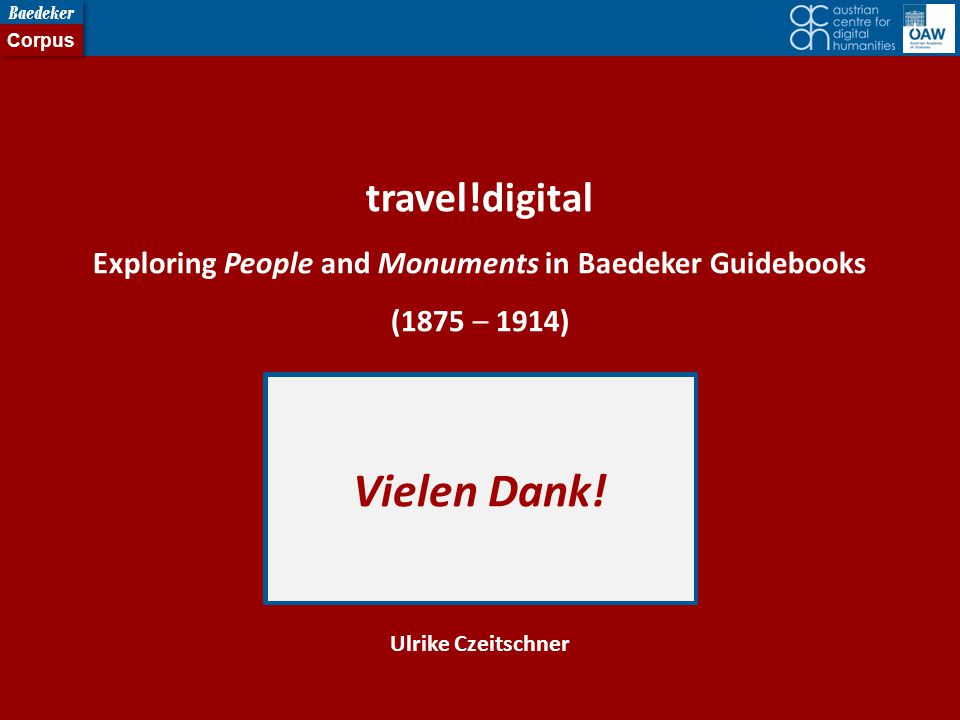 Exploring People and Monuments in Baedeker Guidebooks