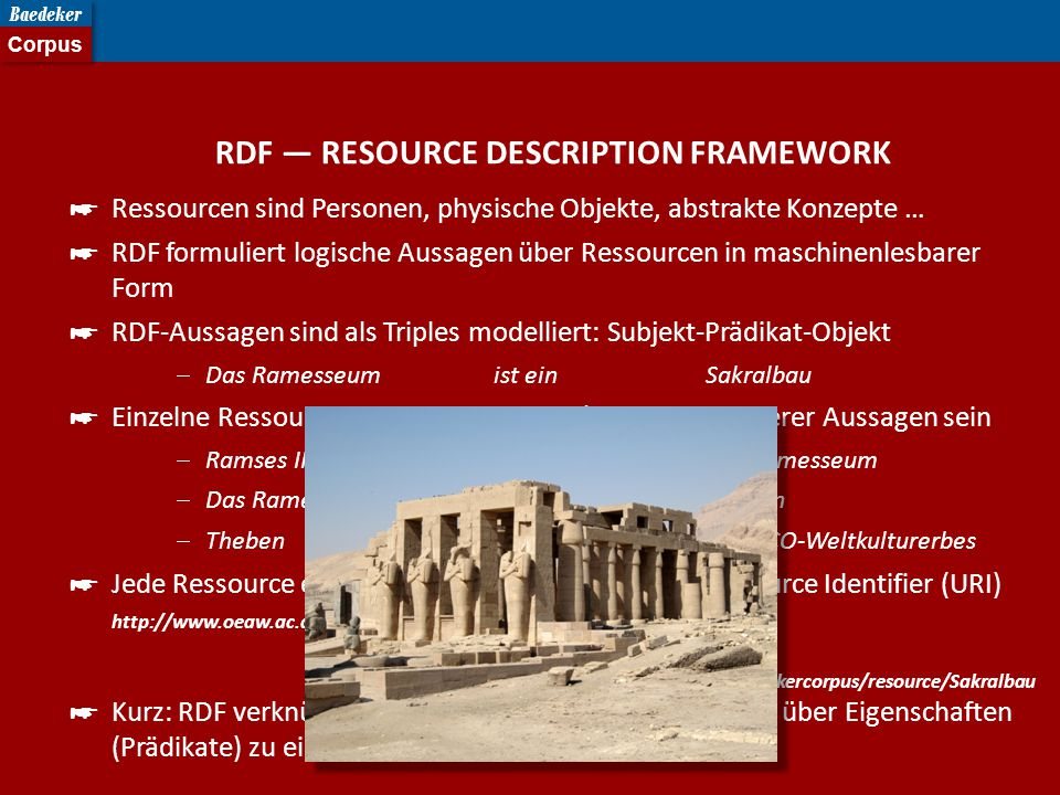 RDF — RESOURCE DESCRIPTION FRAMEWORK