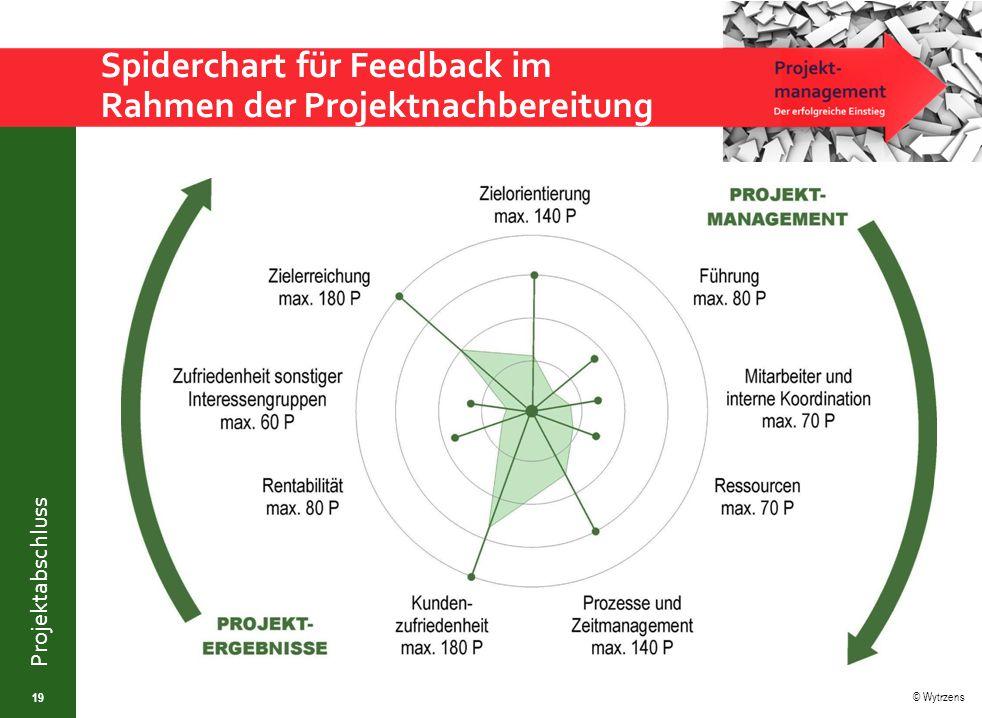 Spiderchart für Feedback im Rahmen der Projektnachbereitung