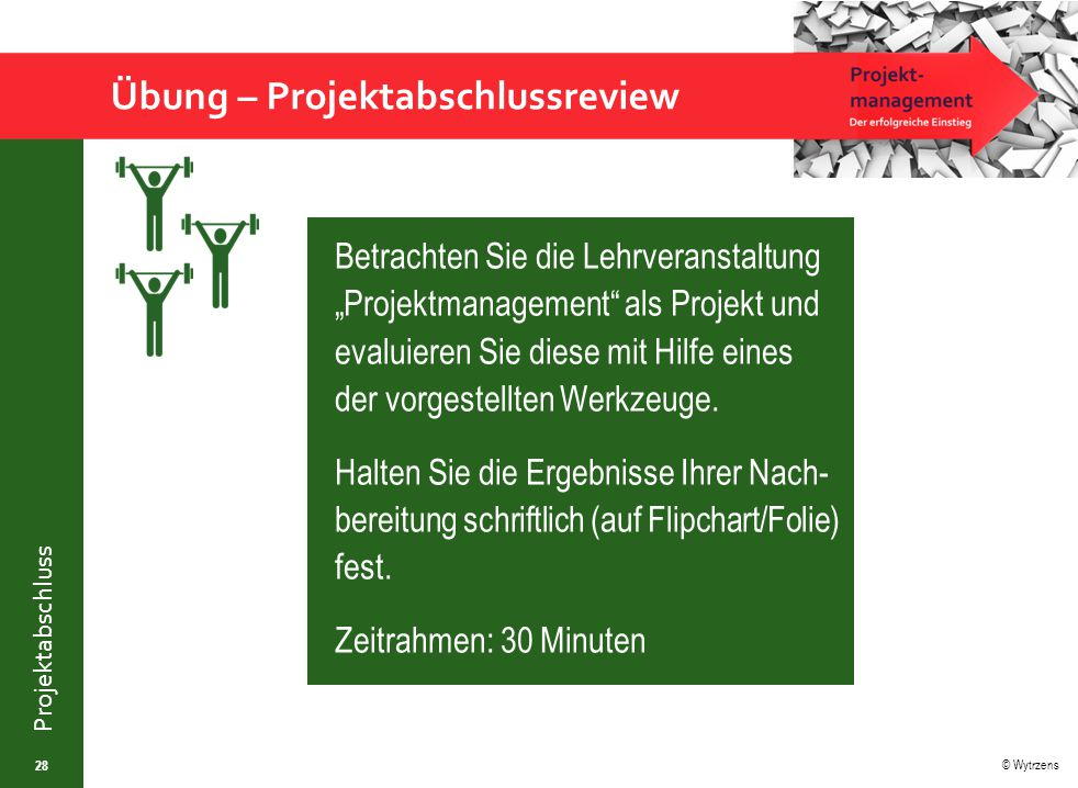 Übung – Projektabschlussreview