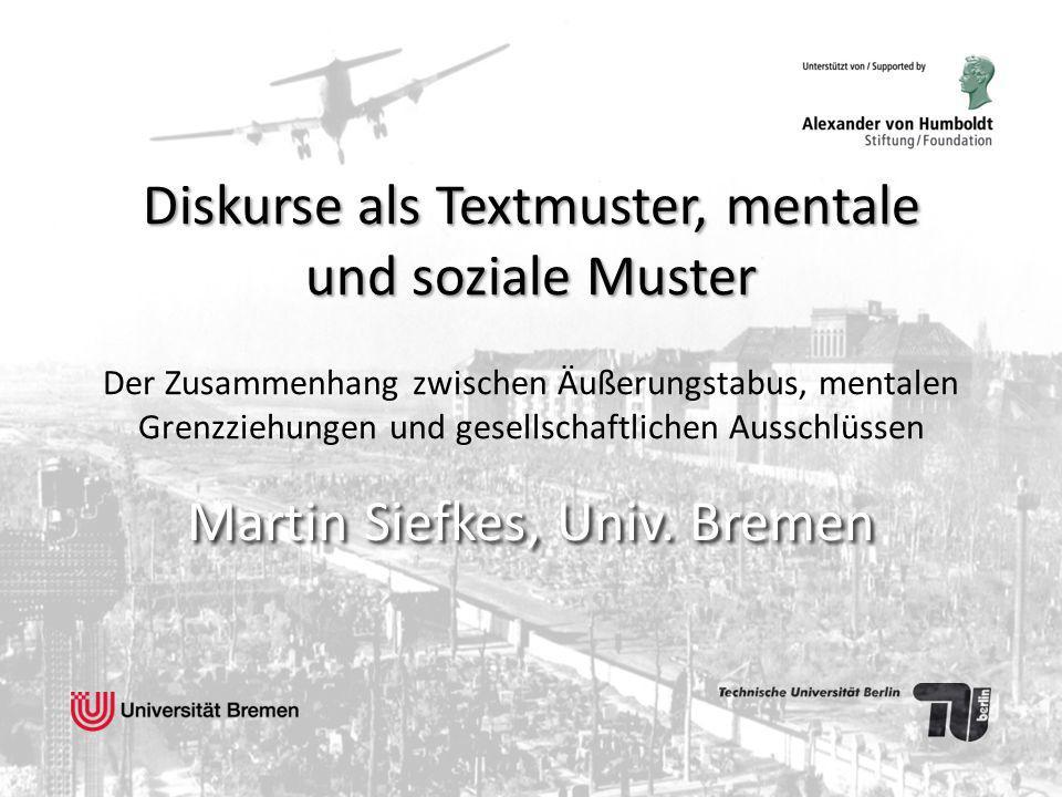 Martin Siefkes, Univ. Bremen