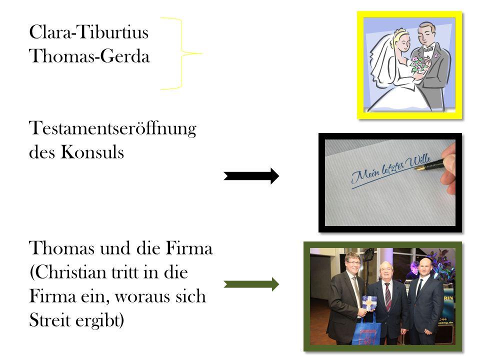 Clara-Tiburtius Thomas-Gerda Testamentseröffnung des Konsuls Thomas und die Firma (Christian tritt in die Firma ein, woraus sich Streit ergibt)