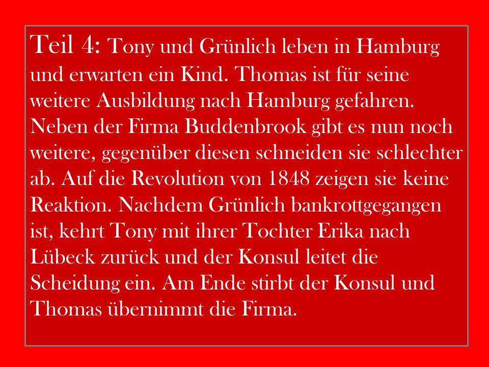 Teil 4: Tony und Grünlich leben in Hamburg und erwarten ein Kind