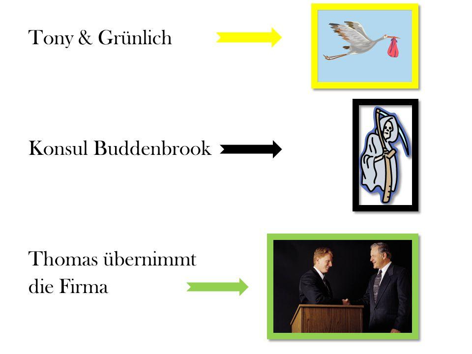 Tony & Grünlich Konsul Buddenbrook Thomas übernimmt die Firma