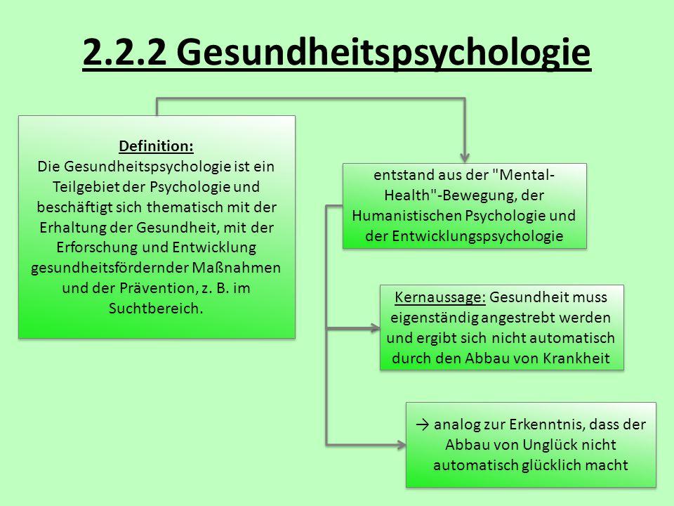 2.2.2 Gesundheitspsychologie