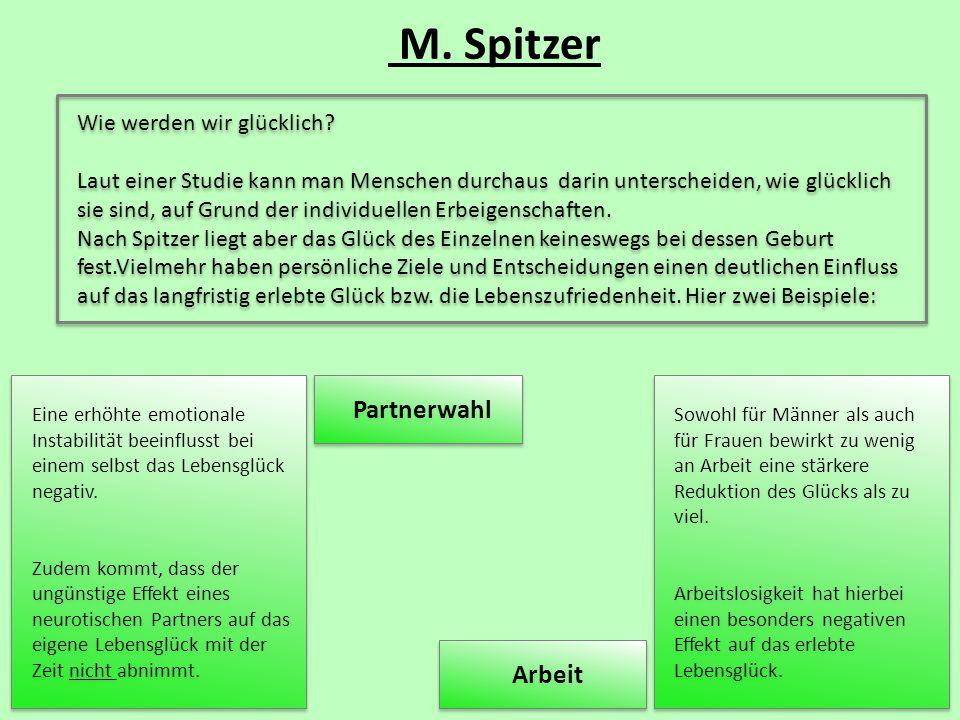 M. Spitzer Partnerwahl Arbeit Wie werden wir glücklich