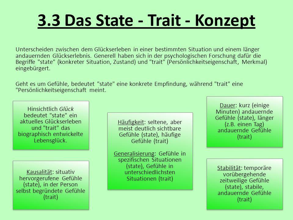 3.3 Das State - Trait - Konzept