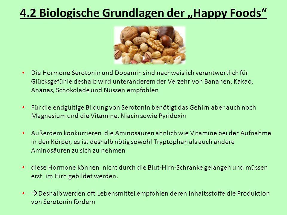 "4.2 Biologische Grundlagen der ""Happy Foods"