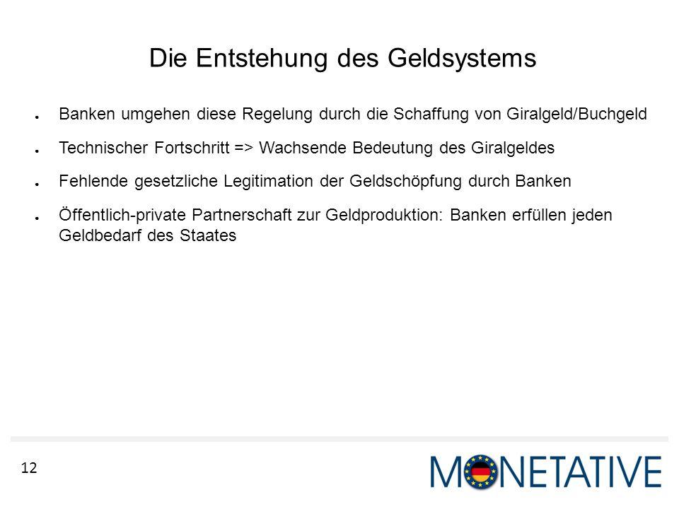 Die Entstehung des Geldsystems