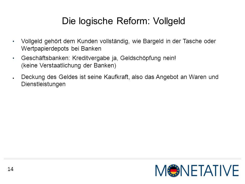 Die logische Reform: Vollgeld