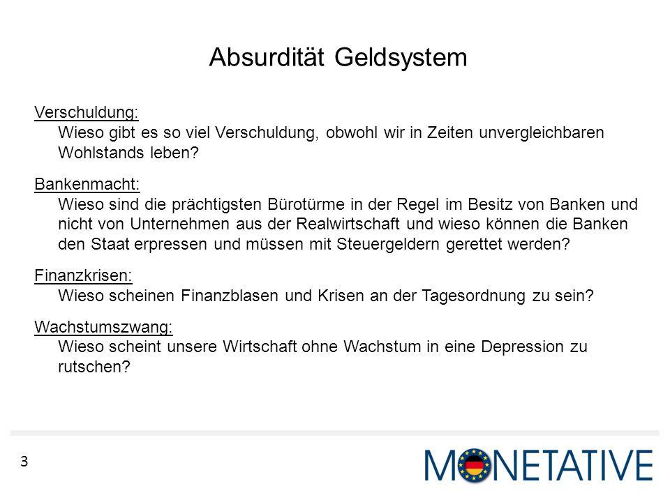 Absurdität Geldsystem