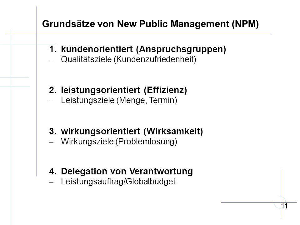 Grundsätze von New Public Management (NPM)