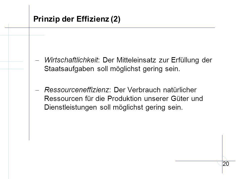 Prinzip der Effizienz (2)