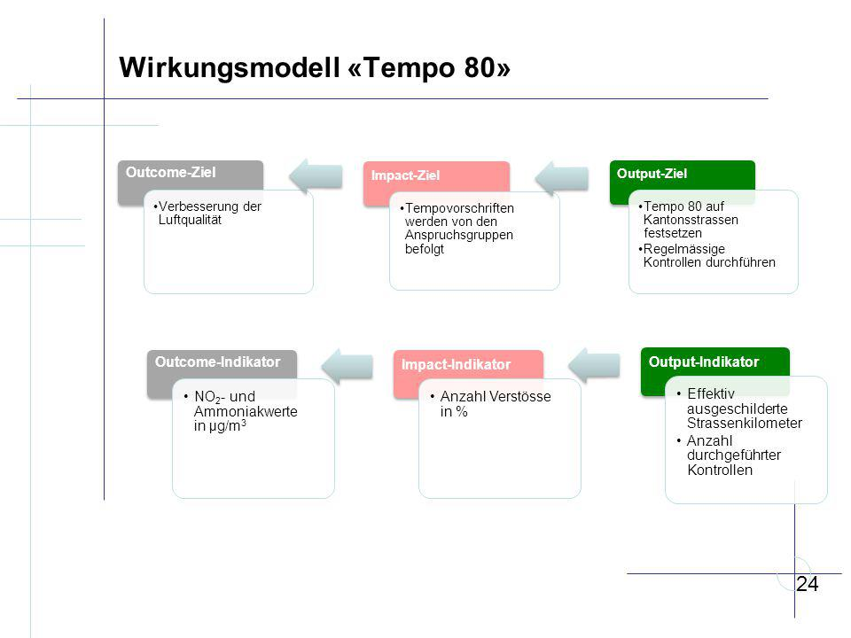 Wirkungsmodell «Tempo 80»