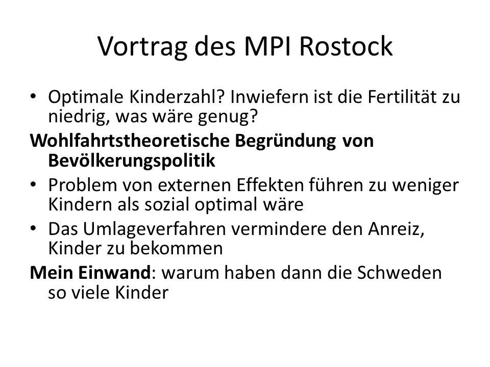 Vortrag des MPI Rostock