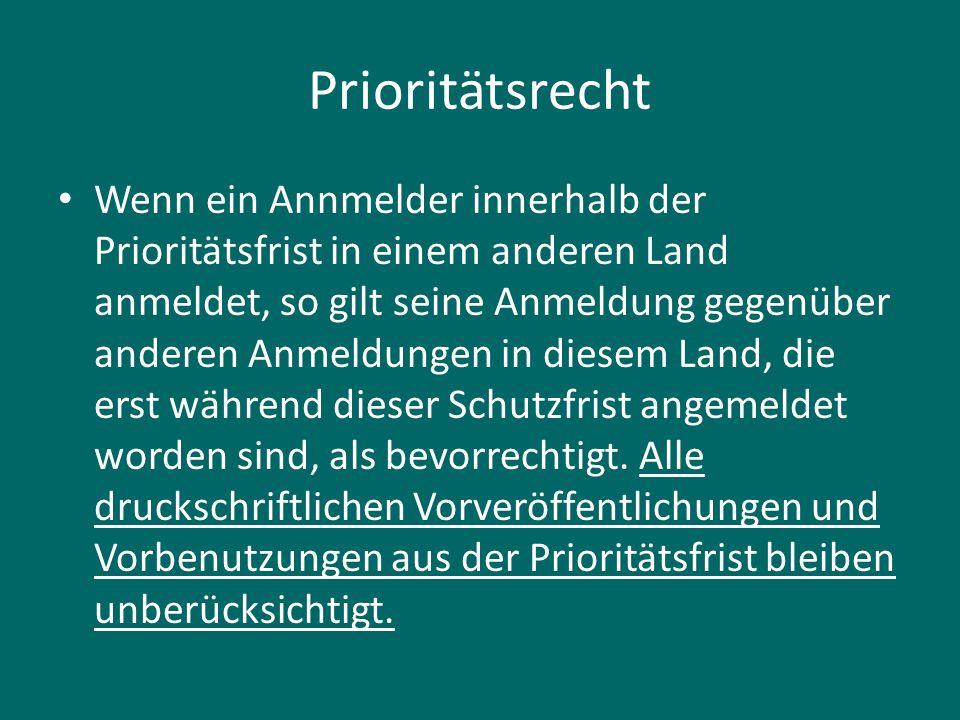 Prioritätsrecht