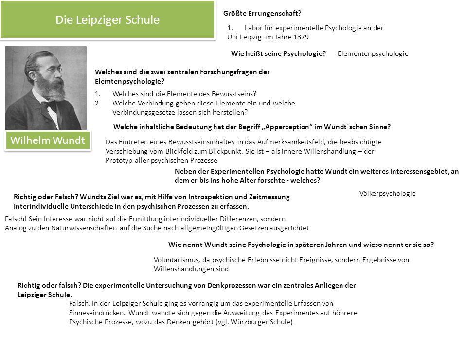 Die Leipziger Schule Wilhelm Wundt Größte Errungenschaft