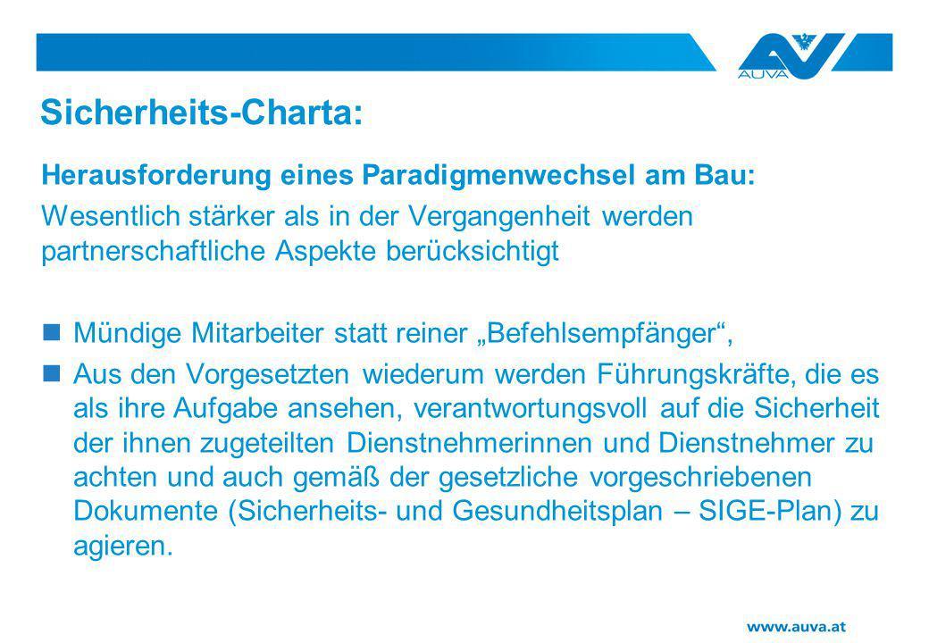 Sicherheits-Charta: Herausforderung eines Paradigmenwechsel am Bau: