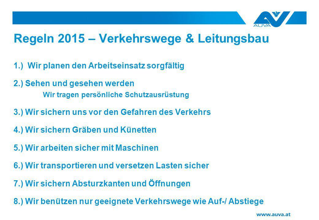 Regeln 2015 – Verkehrswege & Leitungsbau
