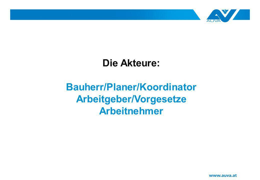 Bauherr/Planer/Koordinator Arbeitgeber/Vorgesetze