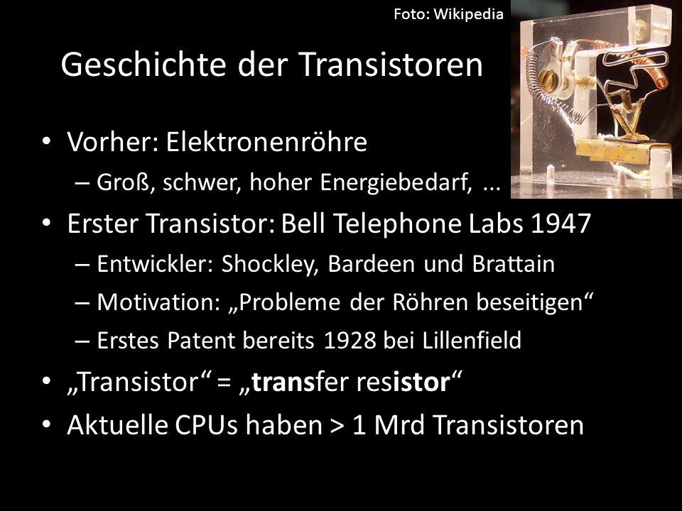 Geschichte der Transistoren