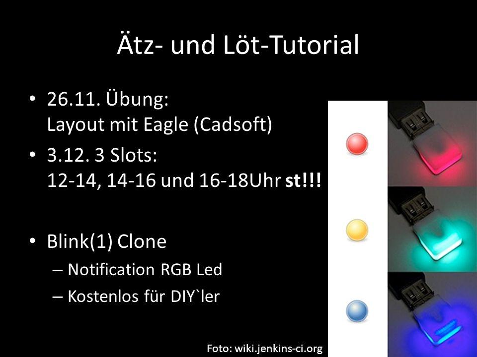 Ätz- und Löt-Tutorial 26.11. Übung: Layout mit Eagle (Cadsoft)