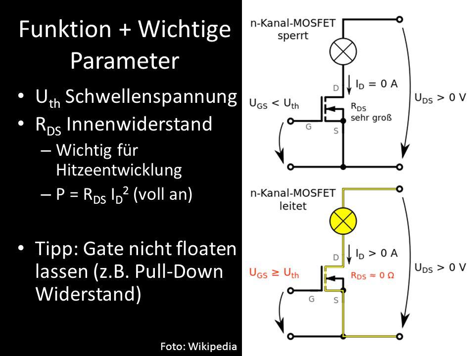 Funktion + Wichtige Parameter