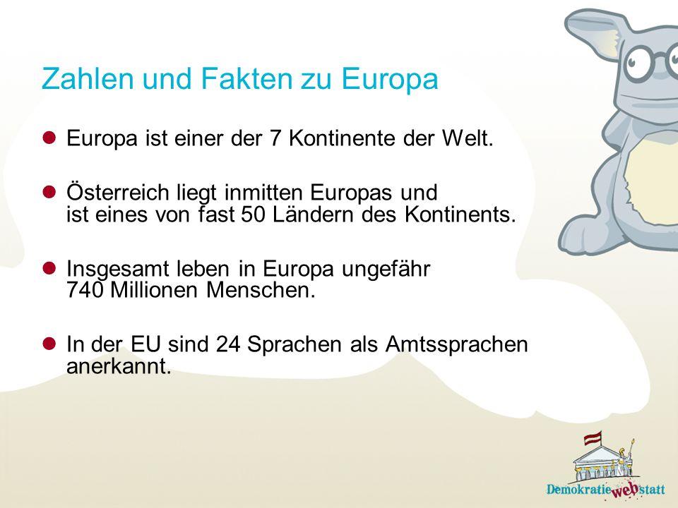 Zahlen und Fakten zu Europa