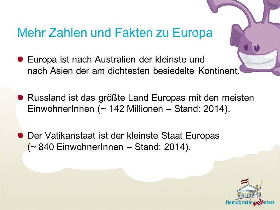 Mehr Zahlen und Fakten zu Europa