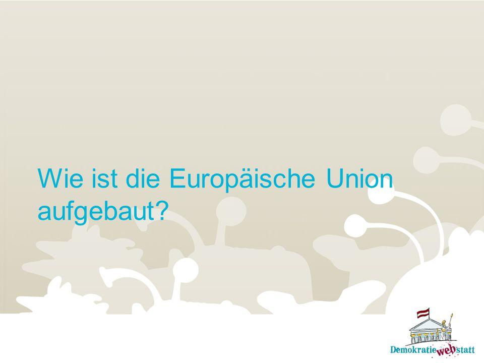 Wie ist die Europäische Union aufgebaut