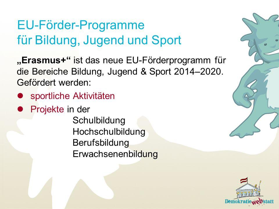 EU-Förder-Programme für Bildung, Jugend und Sport