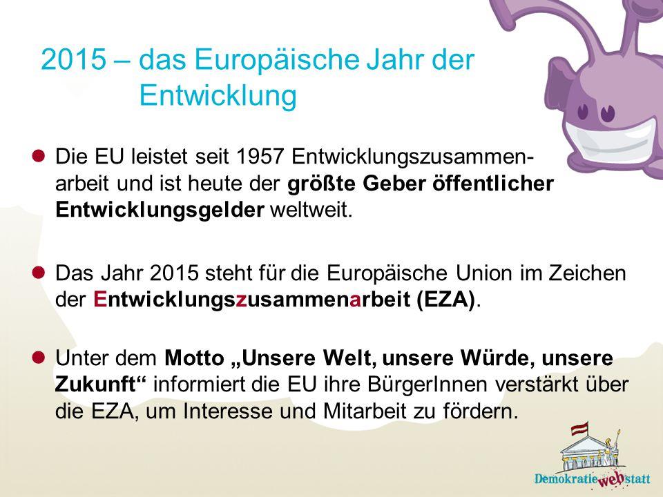 2015 – das Europäische Jahr der Entwicklung