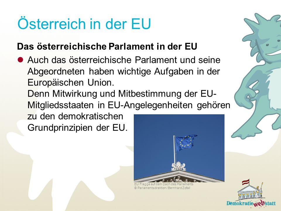 Österreich in der EU Das österreichische Parlament in der EU