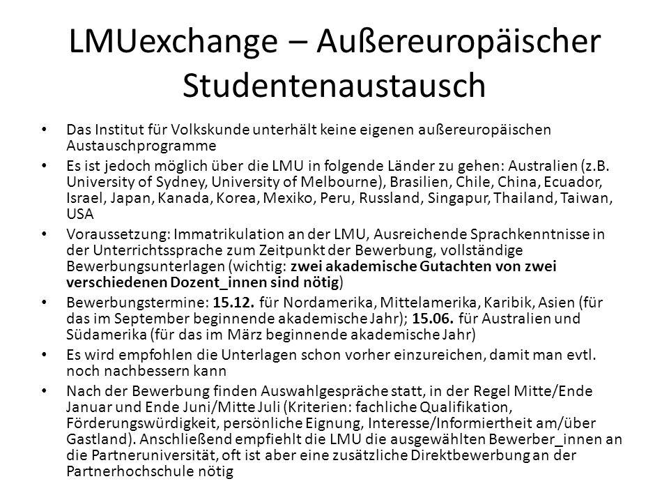 LMUexchange – Außereuropäischer Studentenaustausch