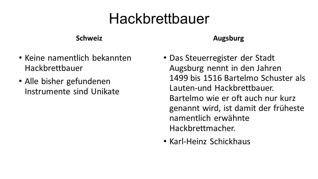 Hackbrettbauer Keine namentlich bekannten Hackbrettbauer