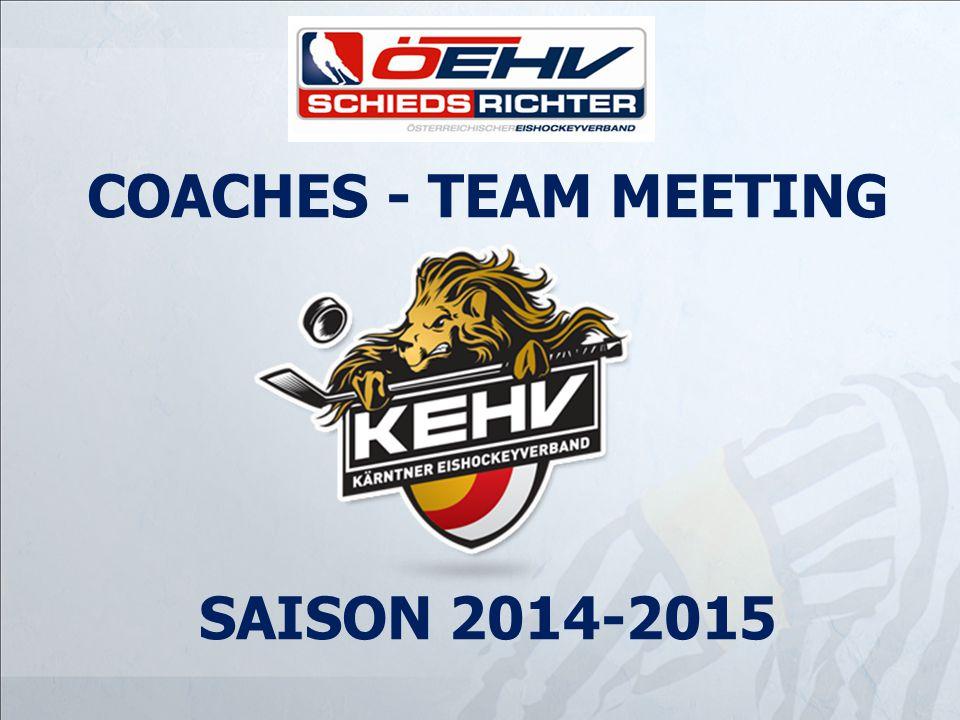 COACHES - TEAM MEETING SAISON 2014-2015