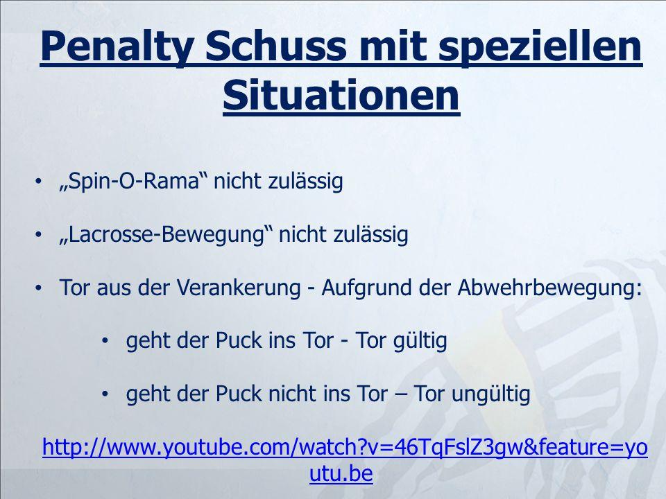 Penalty Schuss mit speziellen Situationen