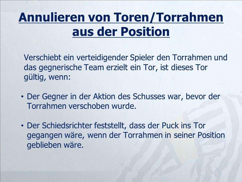 Annulieren von Toren/Torrahmen aus der Position