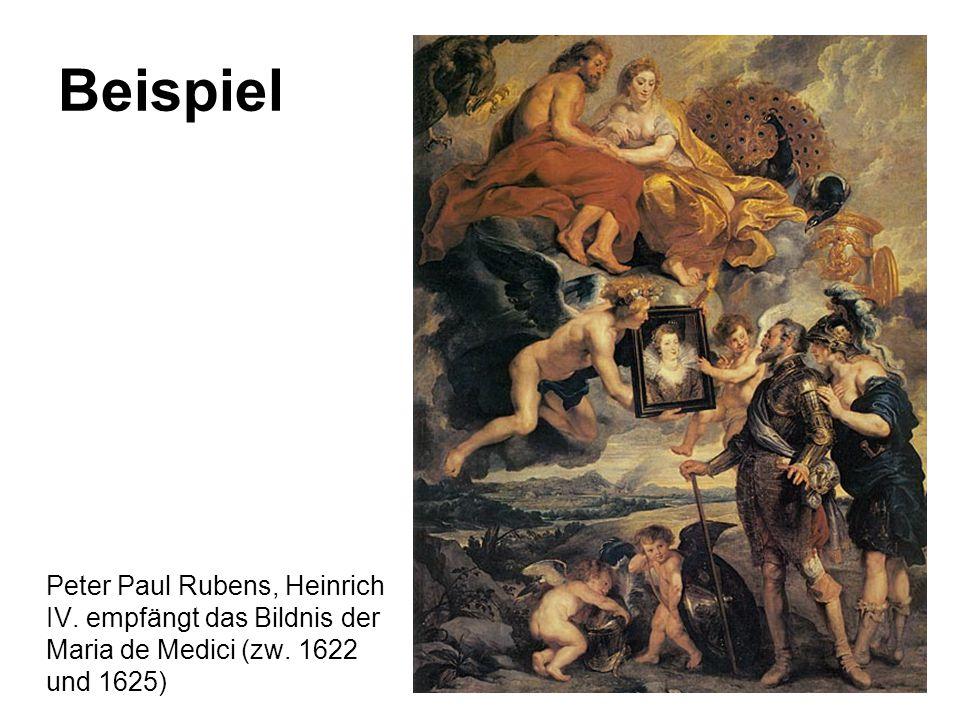 Beispiel Peter Paul Rubens, Heinrich IV. empfängt das Bildnis der Maria de Medici (zw.