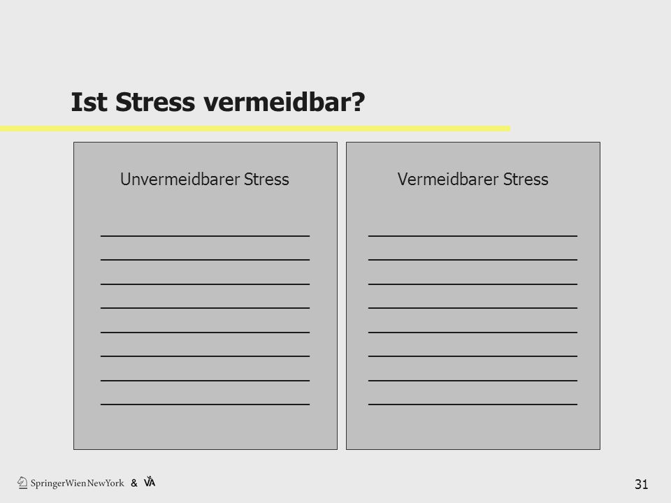 Ist Stress vermeidbar Unvermeidbarer Stress _______________________