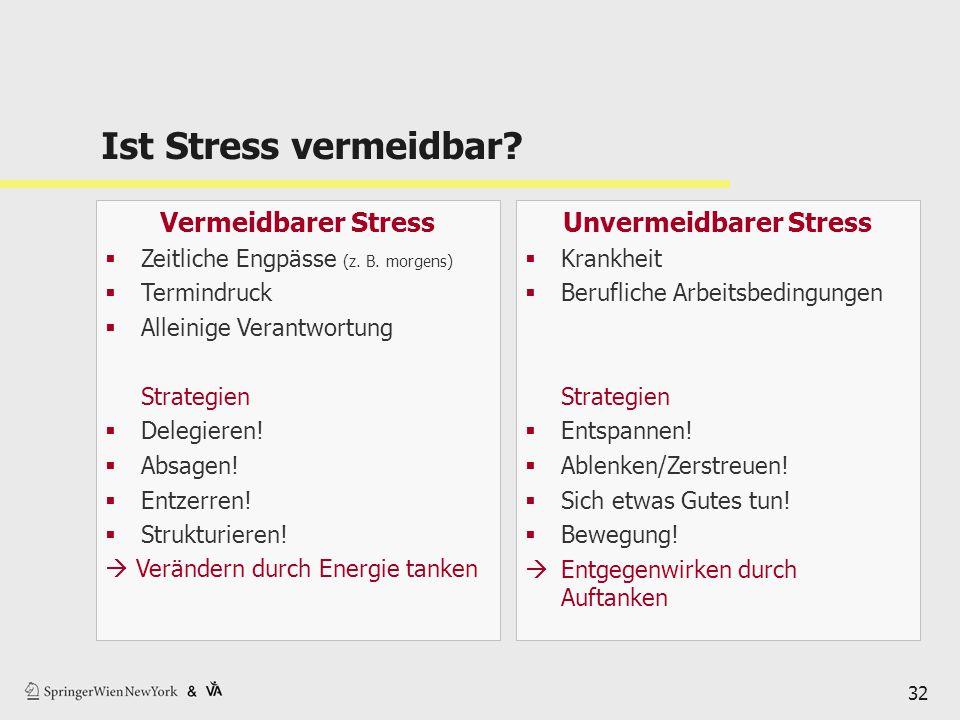 Unvermeidbarer Stress
