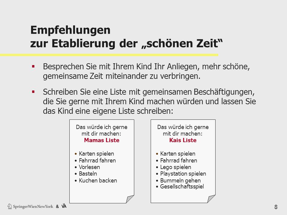 """Empfehlungen zur Etablierung der """"schönen Zeit"""