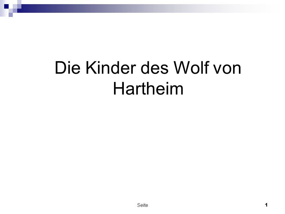 Die Kinder des Wolf von Hartheim