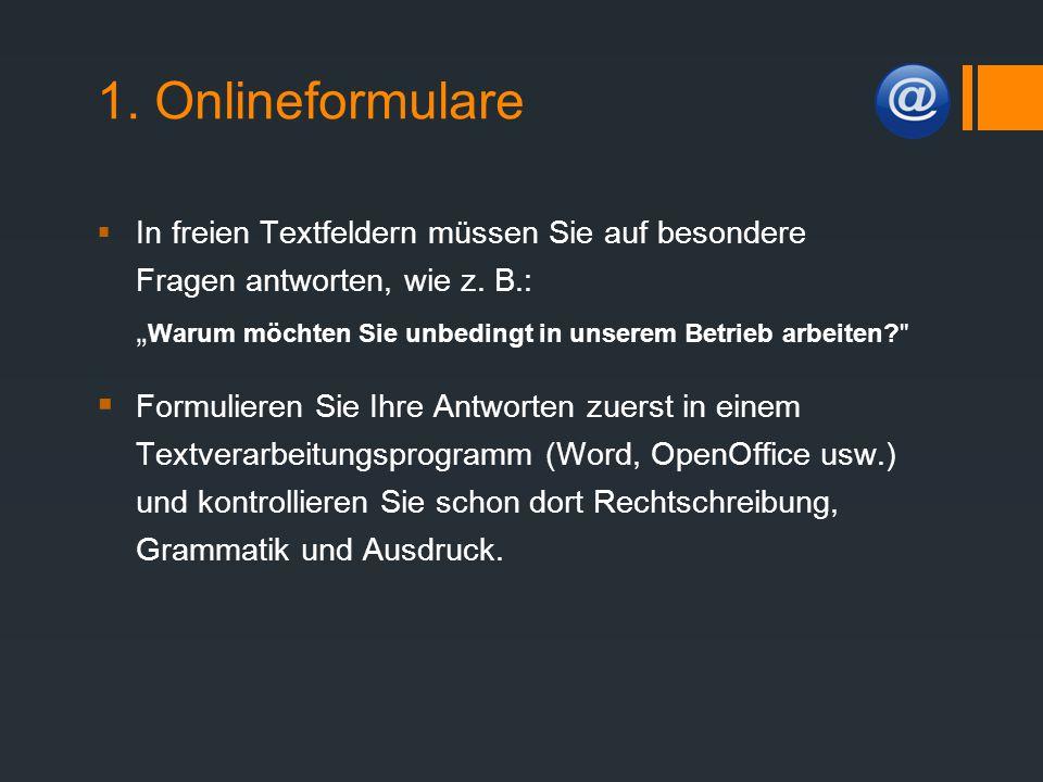 1. Onlineformulare