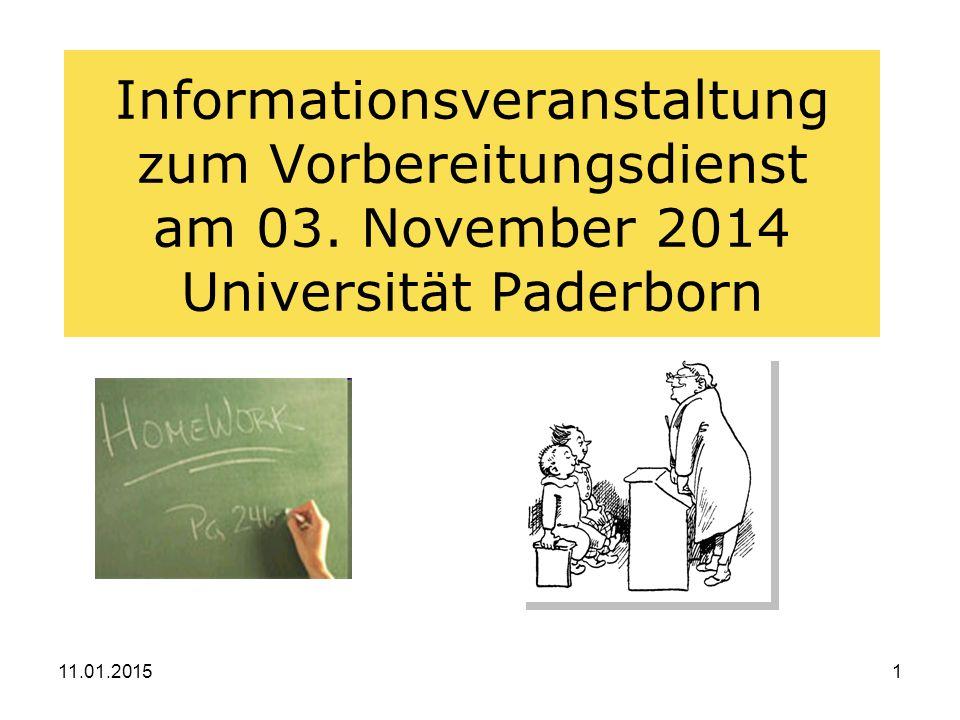 Informationsveranstaltung zum Vorbereitungsdienst am 03